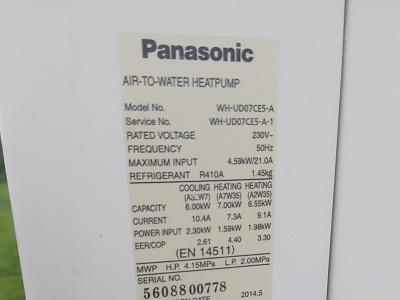 Kod błędu Panasonic Pompy Ciepła H90